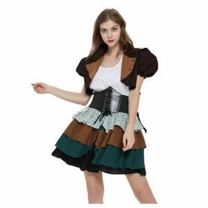steampunk suit corset dress mini jacket ruffle skirt 3