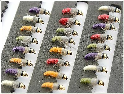Trout Fishing Flies CZECH NYMPH BUZZERS Hooks 12 CODE 105