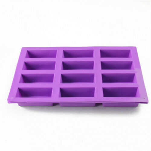 Rectangle Chocolate Ice Cube Soap Mould Baking Tray Cake Mold Silicone 8-Cavity