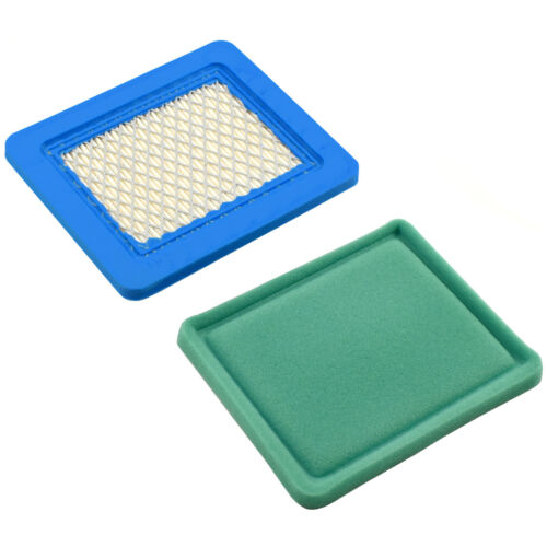 2x Flat Air Filters Cartridge for Briggs/&Stratton Lawn Mower Engine 11-25 Series