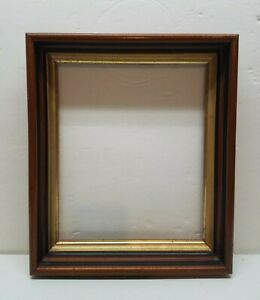 Vintage-Antique-Gold-Gilt-Deep-Picture-Painting-Frame-Eastlake-Shadow-Box-Walnut