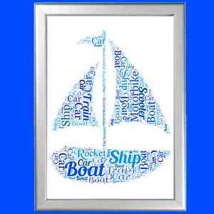Dad Gift Custom Nautical Gift Men/'s Anniversary Gift- Grandad Birthday Gift Personalized Father/'s Day Boat Gift