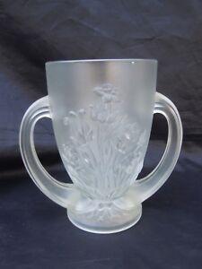 Vase Oreilles Verre Givre Decor De Fleurs Relief Style Art Deco Rly5mrqb-07224417-201971016