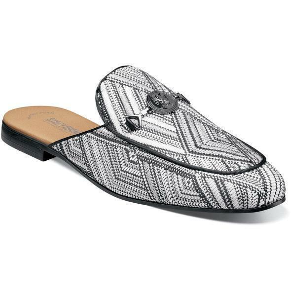 Stacy Adams Herren Schuhe Sterling Bit Pantoffeln Schwarz mit   Weiß 25283-111