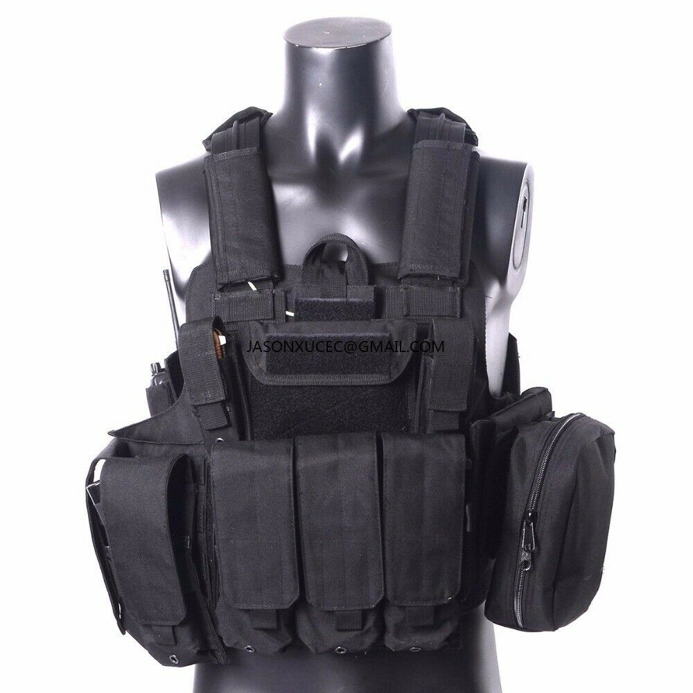HEAVY DUTY  Tactical   Molle Combat Assault Plate Carrier Vest 7 Modular Pouches  good reputation