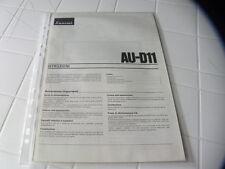 Sansui AU-D11 Owner's Manual   Istruzioni in Italiano New