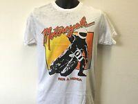 Ride a Motorcycle Honda Motors 80's Zoom Vintage Biker T Shirt S-XL