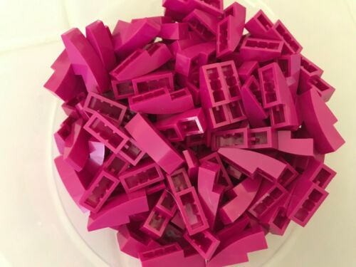 LEGO PARTS-BRAND NEW-#50950-MAGENTA-SLOPE CURVED 3 X 1-150 PIECES