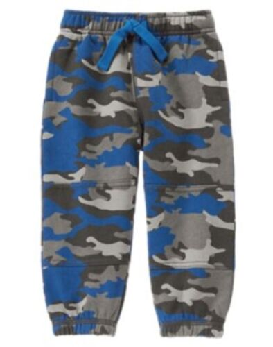 GYMBOREE KING OF COOL BLUE CAMOUFLAGE SWEAT PANTS 6 12 3T NWT