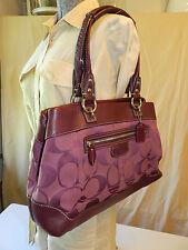 Coach Penelope Signature and Pebbled Leather Large Purse/ Tote/ Shopper 14422