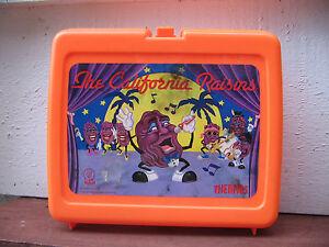 1988 CALRAB CALIFORNIA RAISINS- THERMOS LUNCH BOX-PLASTIC