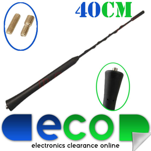 Ford Focus Fiesta Ka 40cm Whip Style Roof Mount Replacement Car Aerial Antenna