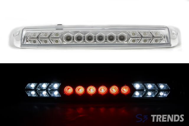 1999 - 2006 Chevy Silverado GMC Sierra LED 3rd Third Brake Light Lamp Chrome