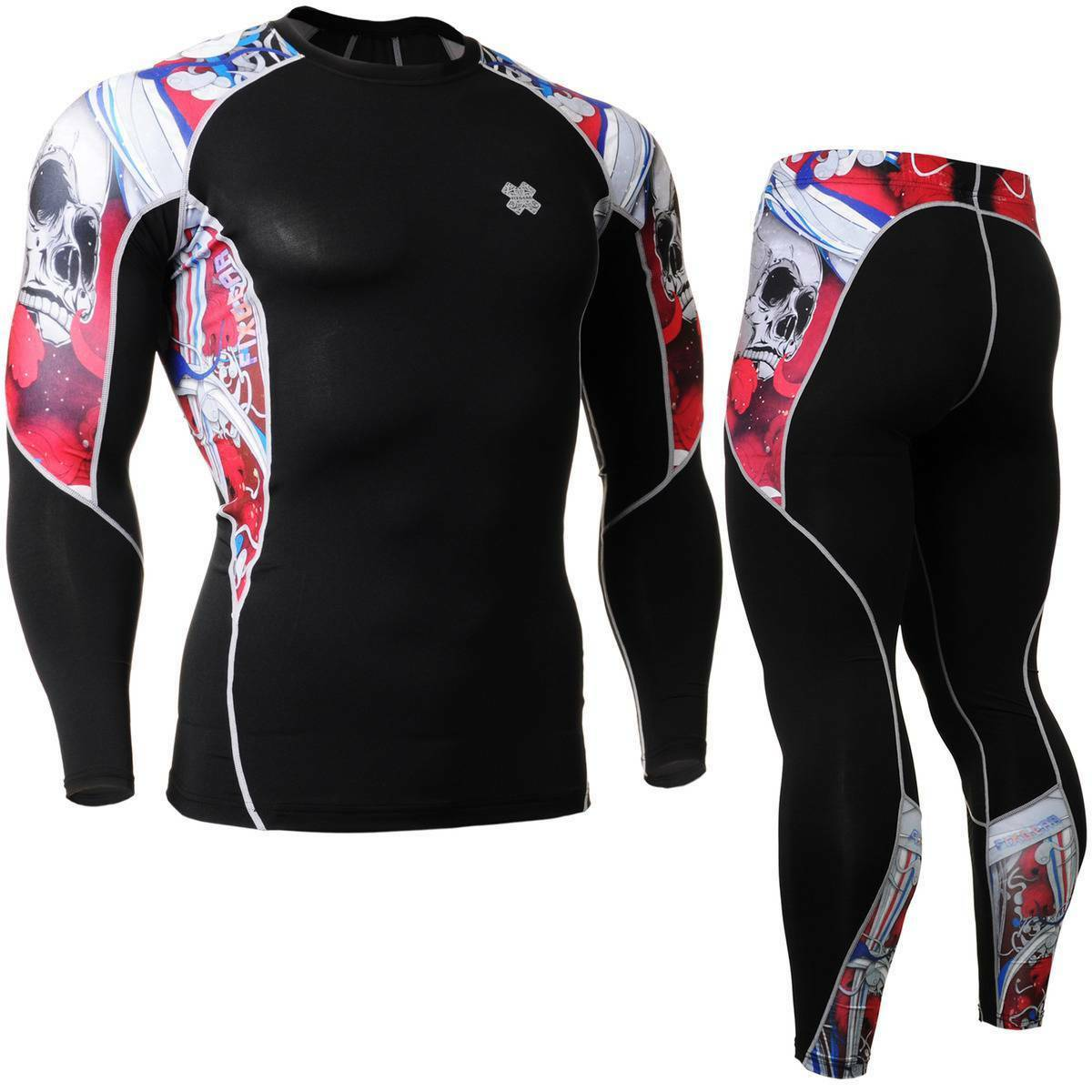 FIXGEAR C2L P2L-B19R SET Compression Shirts & Pants Skin-tight MMA Training Gym