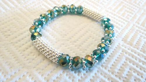 5 10 Piezas Shamballa Estilo Beads cristal Stretch Pulseras-Top quality-uk vendedor