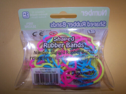 TOYSMITH NUMBER SHAPED RUBBER BANDS PACKAGE OF 12  NEW!!