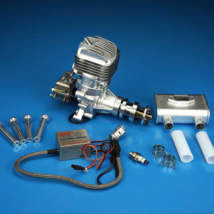 Nuevo DLE35RA motor de gasolina 35CC De Escape Trasero Para Radio Control Avión Ala Fija Modelo