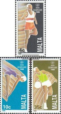 kompl.ausg. Postfrisch 1988 Olympische Sommerspiele Malta 803-805