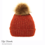 Donna Pom Pom cappello donna Inverno Accogliente Beanie cappello caldo con lavorazione a trama grossa Bobble Ski