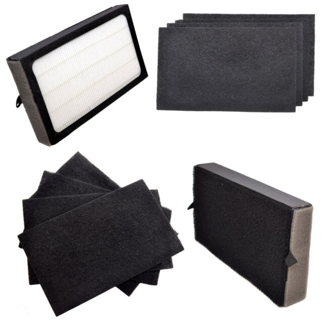 2x HQRP Filters E /& 4x Carbon Filters for GermGuardian AC4100 FLT4100 FLT11CB4