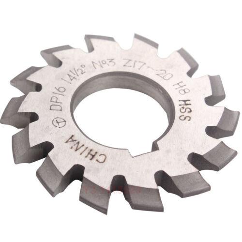 8 Pcs Involute Gear Cutter DP8 DP10 DP16 DP20 DP22 PA14-1//2 HSS 8H Set No1-8