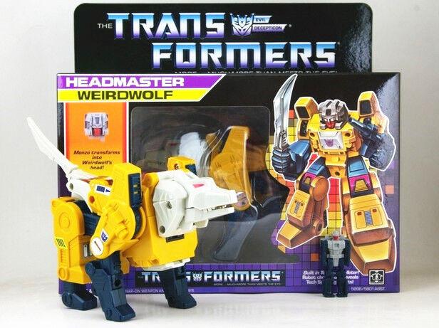 Transformers G1 Headmasters Weirdwolf Reissue Action Figure Toy New