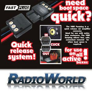 VIBE-veloce-rilascio-rapido-Spina-Amplificatore-Amp-amp-Sub-Box-Subwoofer-tattile-Boot