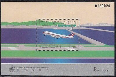 100% QualitäT Macau, 1995 Flughafen Block 32 **, (21348)