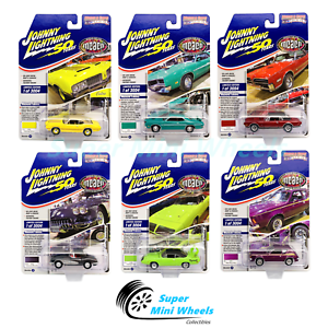 Johnny-Lightning-1-64-Muscle-Cars-USA-2019-Release-3-Version-A-Set-of-6-Cars