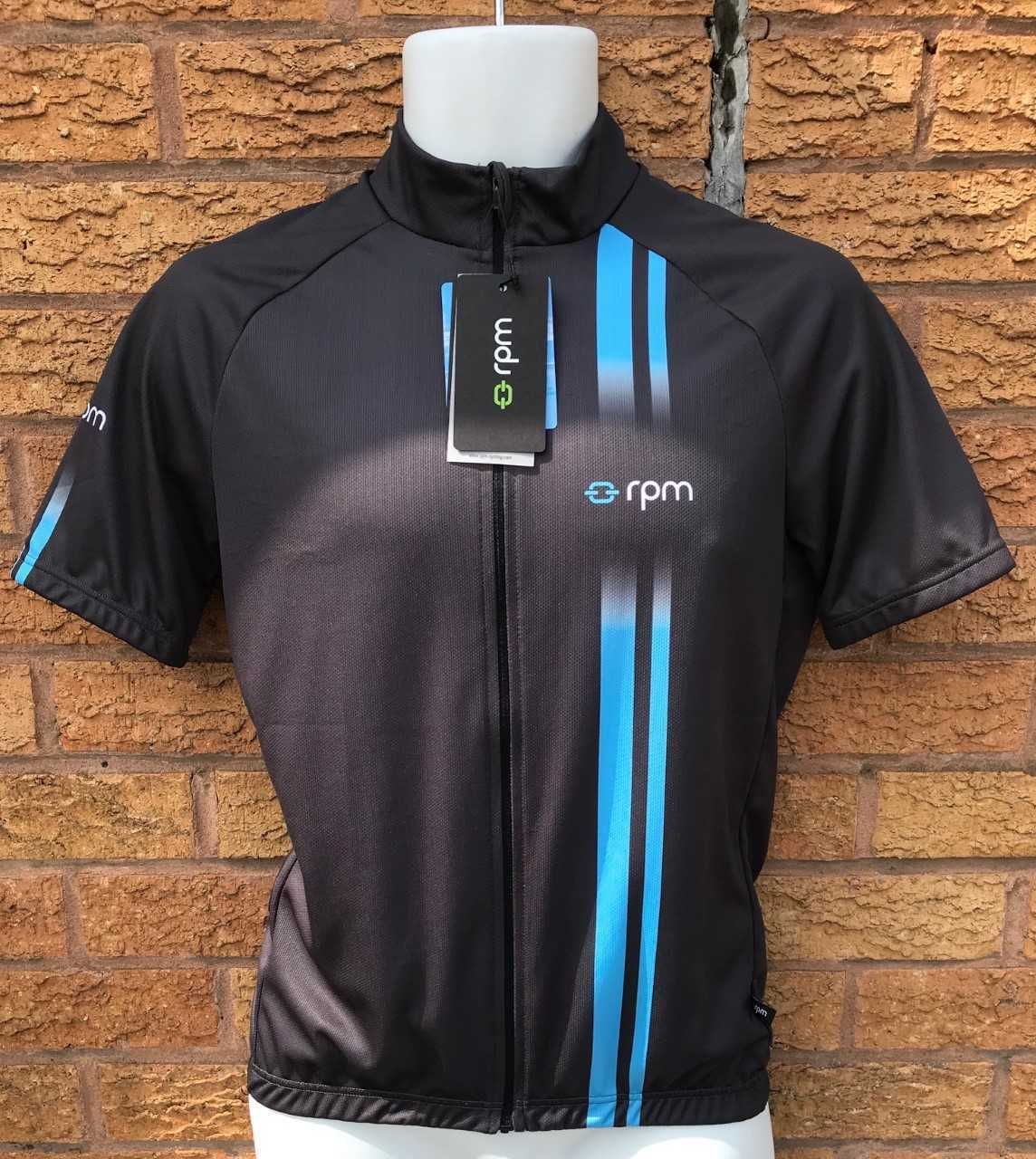 RPM SSJ60 Sportive Fit  Men's Cycling Short Sleeve Jersey Made in  Grey bluee  a lot of concessions
