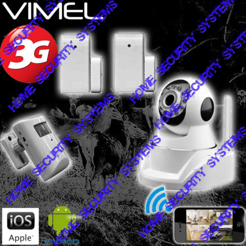 Home Security Camera 3G GSM Wireless Alarm System Farm Remote Monitoring phone