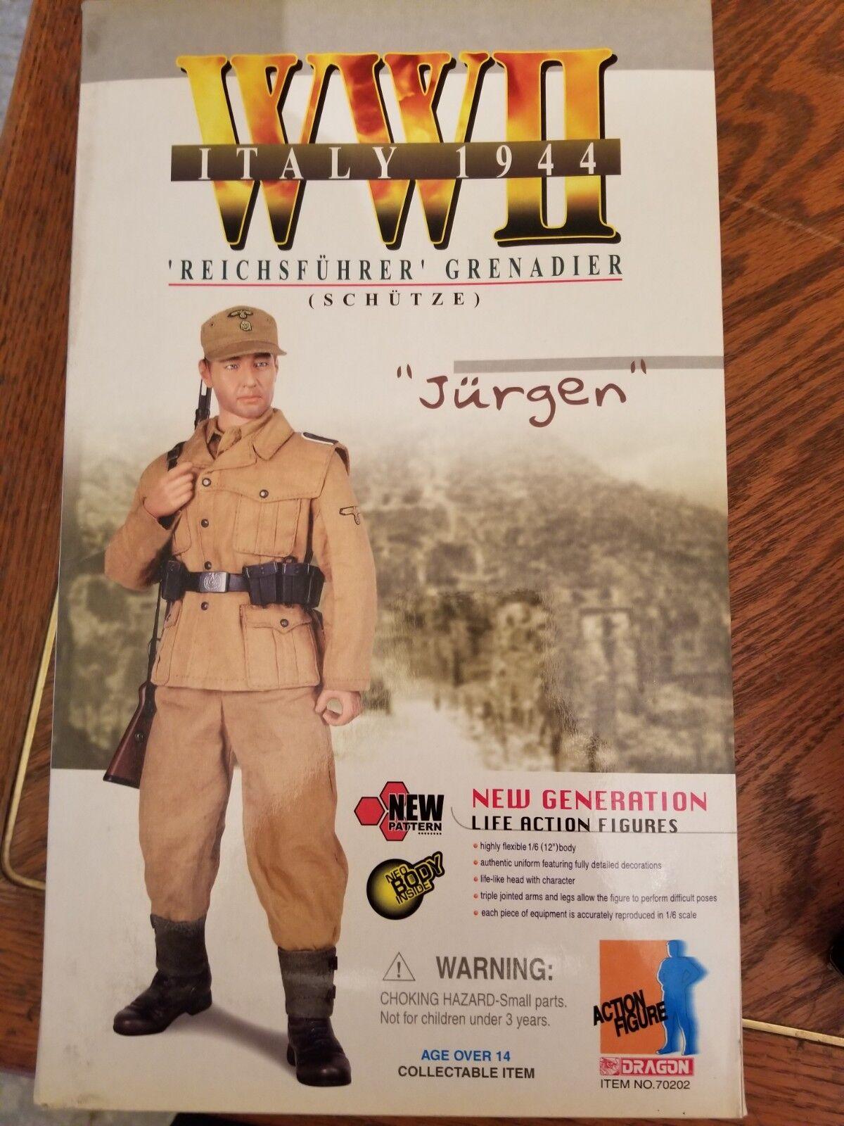 Dragon 1 6W2 Deutscher Reichsführer Grenadier Jurgen Italien 1944 MIB NRFB
