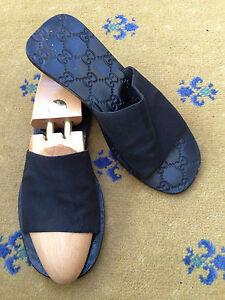 8fc93a89ea638 Gucci Mens Sandals Thongs Leather Flip Flop UK 9 US 10 EU 43 Shoes ...