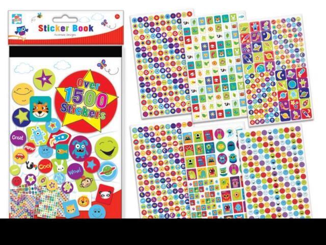 1500 Reward Stickers Book for Children Kids School Home Fun Activity Crafts