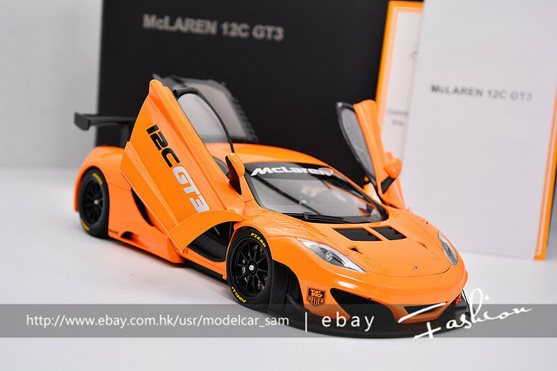 Autoart 1 18 MCLAREN MP4-12C GT3 PRESENTATION Orange
