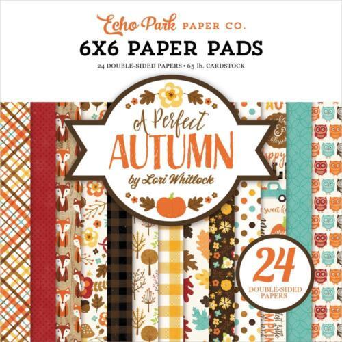 A Perfect Autumn Double-Sided Paper Pad 6x6 24 Pkg ECHO PARK PAPER APA132023