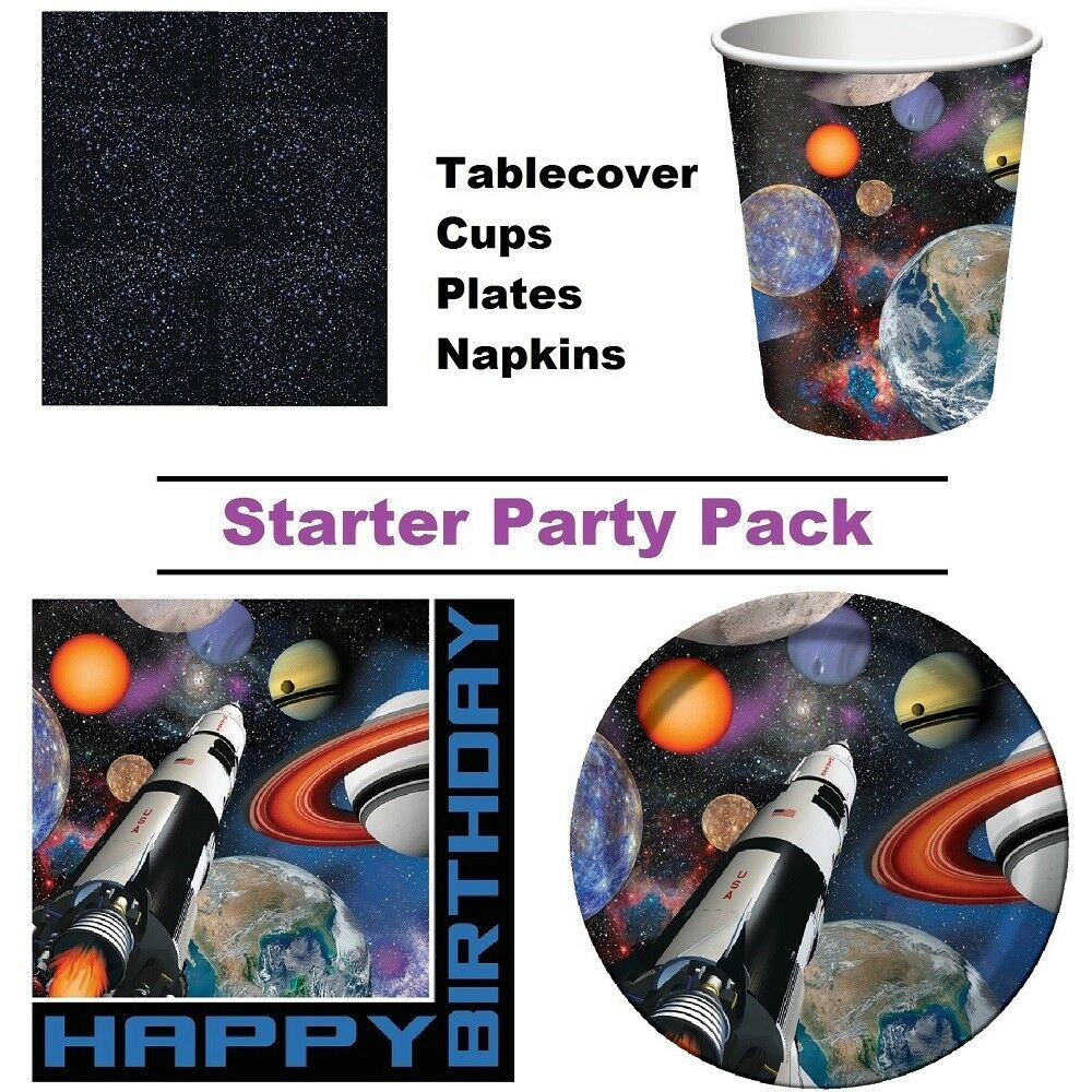 Jet BLACK Plastic Halloween Space Party Tablecover Tablecloth FREE 1st Cl Post