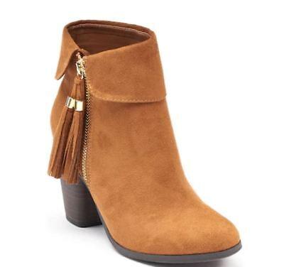NWT Women/'s LC Lauren Conrad Sweetpea Ankle Boots Choose Size Cognac