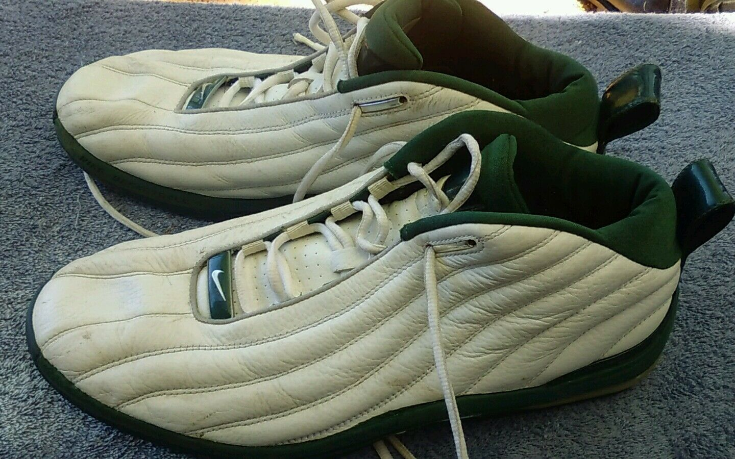 Vtg Nike og 2002 Air Max Chosen Green/white  Foamposite Men Price reduction Comfortable and good-looking