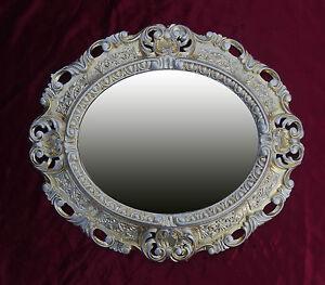 wandspiegel spiegel gold silber oval 45 x 38 cm barock. Black Bedroom Furniture Sets. Home Design Ideas