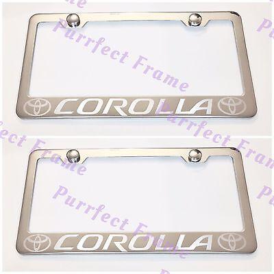 "/""JAGUAR/"" LASER Style Stainless Steel License Plate Frame Rust Free W// Bolt Caps"