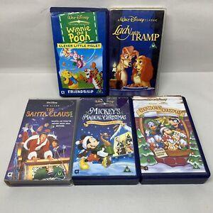 Disney-VHS-Video-Bundle-Santa-Clause-Mickey-Magical-Christmas-Winnie-Tramp-1123E