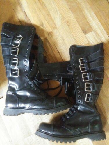 Demonia Gravel 20 Leather Boots Mens size 11 Gothi