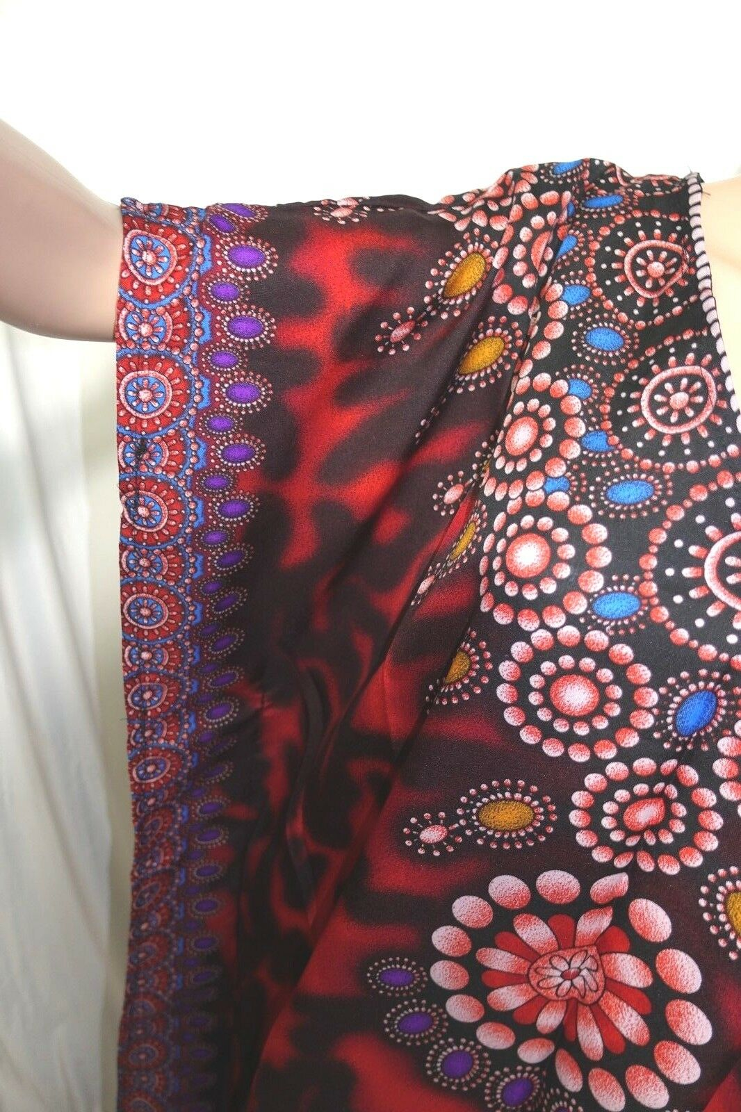 Jessica Taylor Women One Free Size Tunic Caftan Red Black Blue Purple