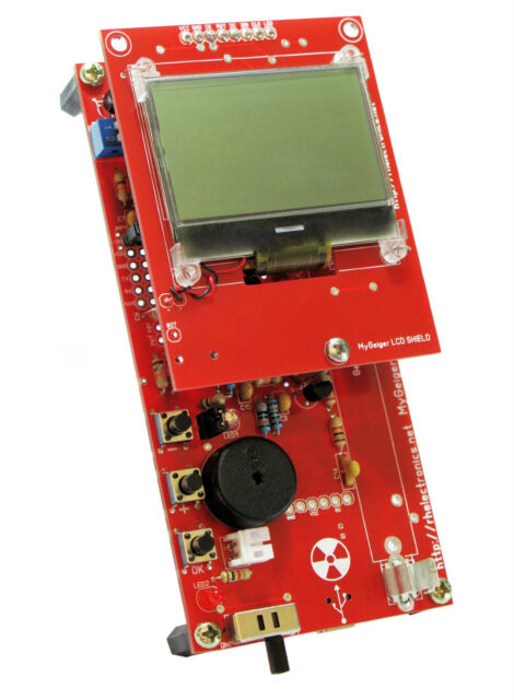 SOLDERED MyGeiger Dosimeter ver.2 DIY Geiger Counter Kit with USB without tube