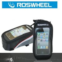 "ROSWHEEL Bike Bicycle Frame Pannier Front Tube Bag Holder for 4.2"" Mobile Phone"