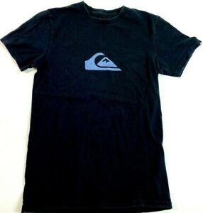 Détails sur QUIKSILVER T shirt graphique homme S à manches courtes noir surf Tee mélangé 100% coton afficher le titre d'origine