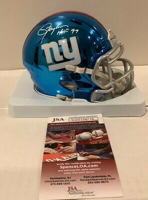 Lawrence Taylor Autographed//Signed New York Giants Mini Helmet JSA