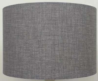 Möbel Wohnen Silver Grey Drum, Fabric Drum Lamp Shades