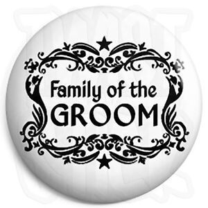 Civil Partnership Brother of the Groom Stag /& Hen 25mm Wedding Button Badge